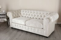 Empire Arctic Silver Crushed Velvet Chesterfields Abreo ...