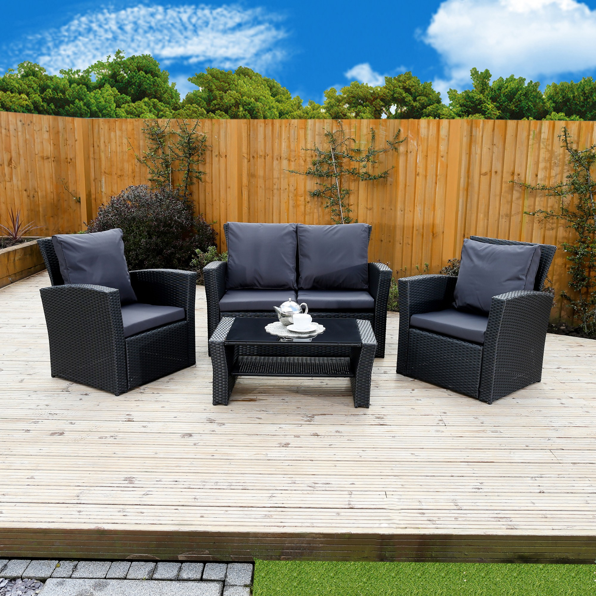 algarve leather sofa and loveseat set blu dot paramount 4 piece rattan for patios conservatories
