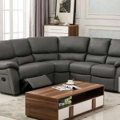 Corner Sofa Bed Recliner With Underneath Ludlow Reclining In Grey Pu Sofas More Views