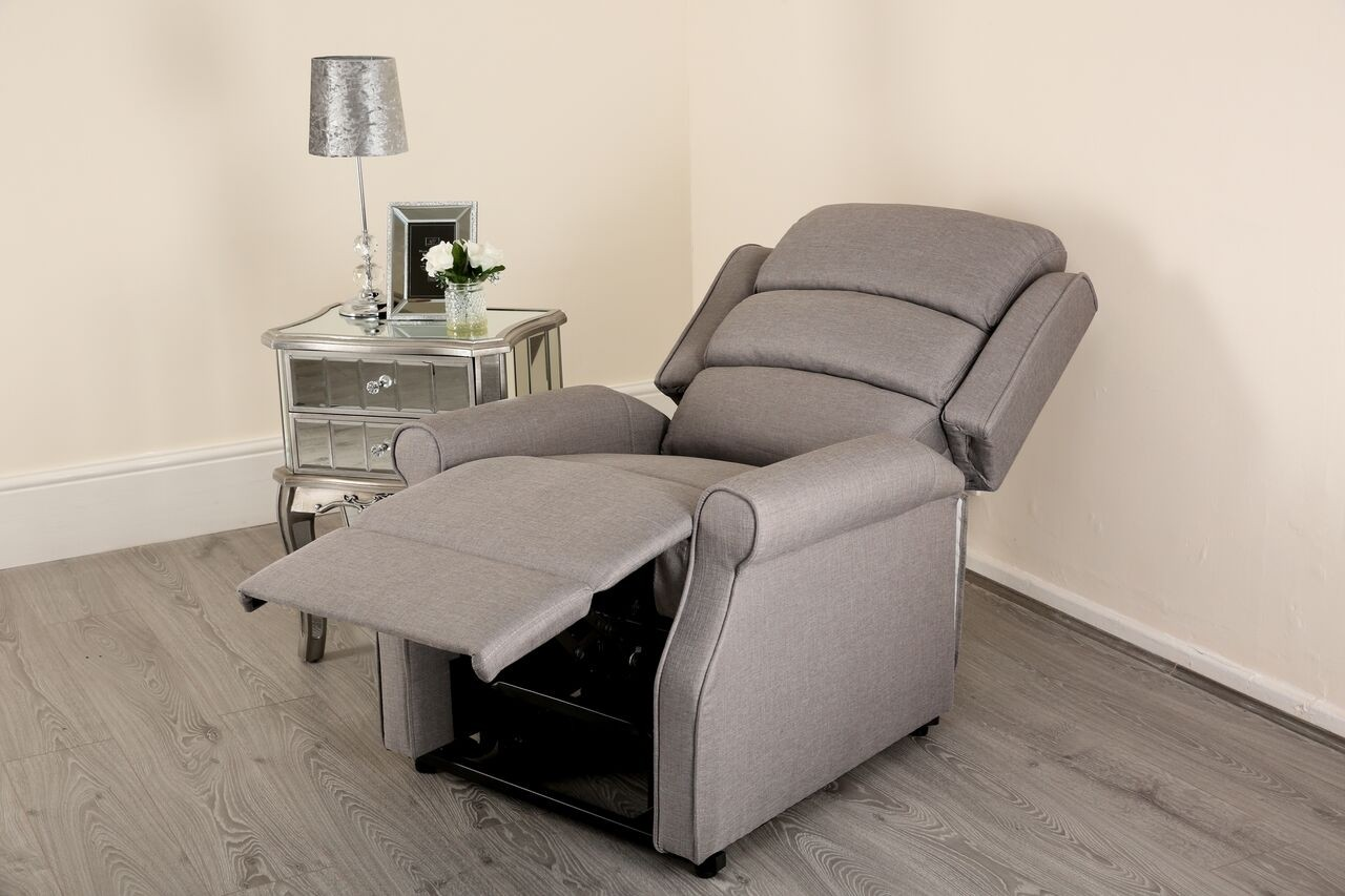 recliner chair covers grey pottery barn manhattan electric black leather lift and rise armchair abreo home
