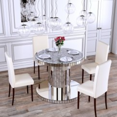 Mirror Living Room Tables French Country Furniture Collection Abreo Home Crushed Diamond Round Dining Table