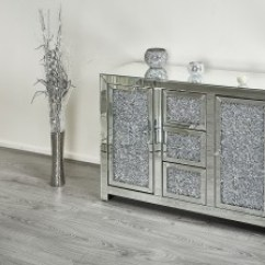White Sideboards For Living Room The Church Columbus Indiana Abreo Home Furniture Diamond Crush Side Board Dresser