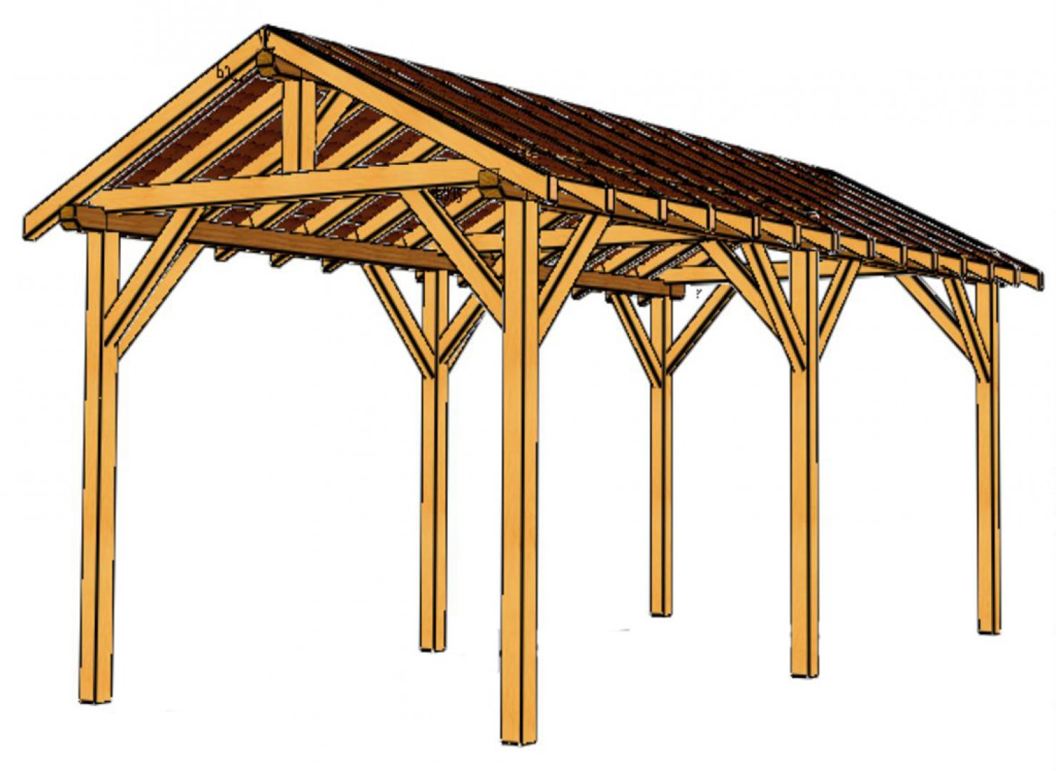Pergola couverte pour terrasse pictures to pin on for Toit de terrasse bois