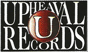 The third and last Upheaval Records logo, as appears inside on the Day of Mourning CD