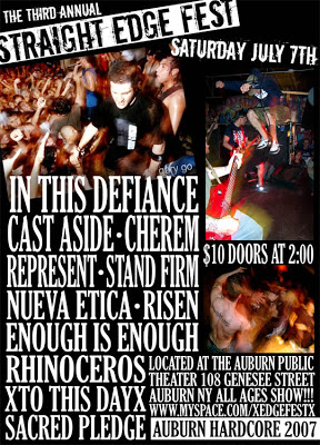 In This Defiance's only reunion show, July 7th 2007 at Straight Edge Fest