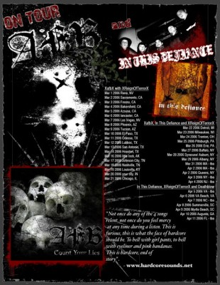 In This Defiance's third tour, with Armed for Battle, Reign of Terror and Deathblow, March and April 2006