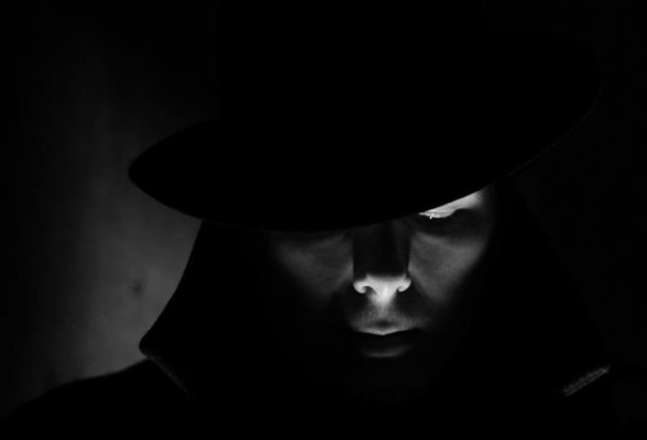 Alexandre Julien pictured during the Soufferance film noir photoshoot.