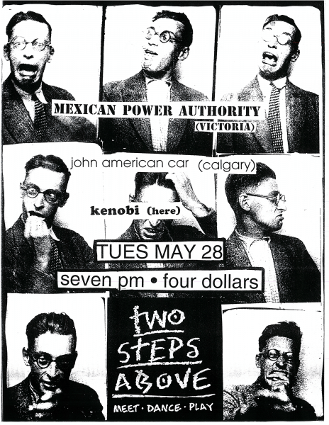 Kenobi performing at Two Steps Above on May 28th 1994 with Mexican Power Authority and John American car