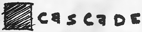 """""""Cascade Records"""" logo, circa 1996"""