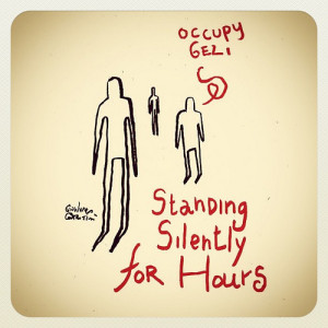 Standing man action 4