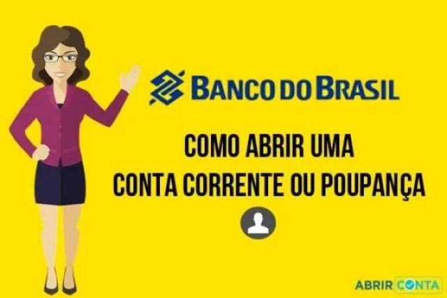 Como abrir uma conta corrente ou poupança no Banco do Brasil