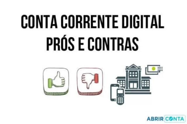 Conta corrente digital – prós e contras