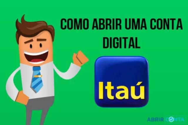 Como abrir uma conta digital no Itaú?