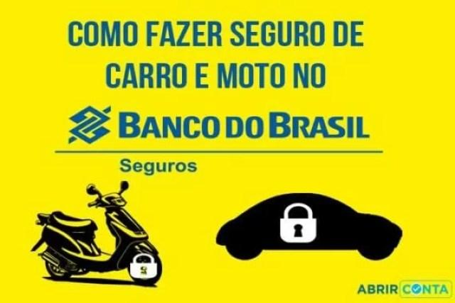 Como fazer seguro de carro e moto no Banco do Brasil?