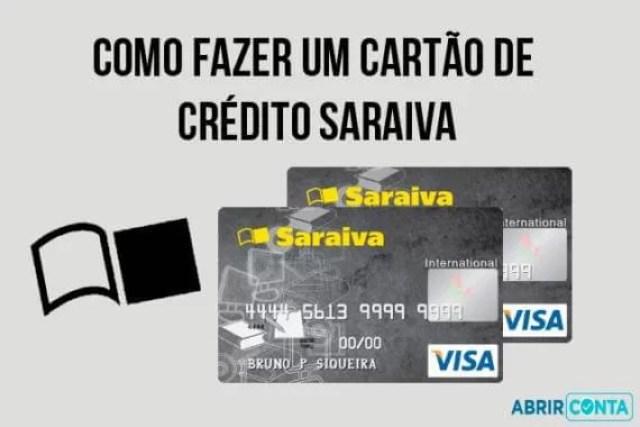Como fazer um cartão de crédito Saraiva