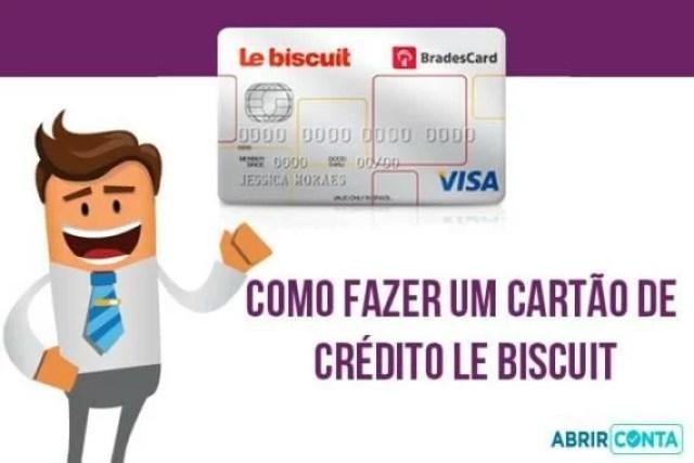 Como fazer um cartão de crédito Le Biscuit