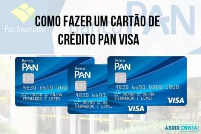 Como fazer um cartão de crédito PAN Visa