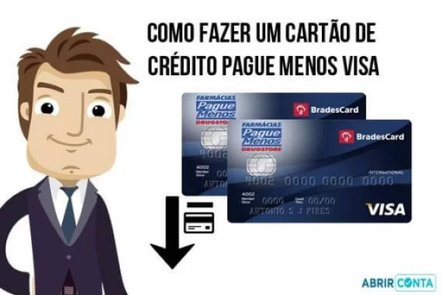 Como fazer um cartão de crédito Pague Menos Visa