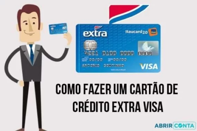Como fazer um cartão de crédito Extra Visa