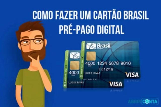 Como fazer um cartão Brasil Pré-Pago Digital
