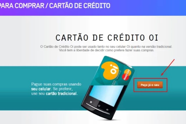 Como fazer um cartão de Crédito Oi