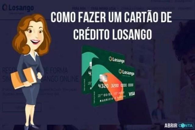Como fazer um cartão de crédito Losango