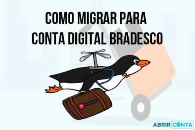 Como migrar para conta digital Bradesco