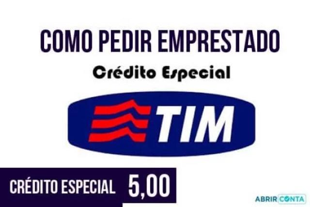 Como pedir emprestado crédito especial Tim