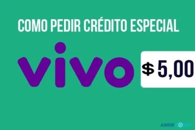 Como pedir crédito especial VIVO