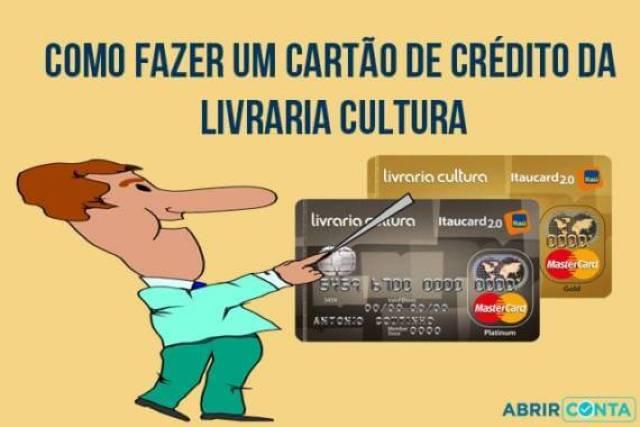 Como fazer um cartão de crédito da Livraria Cultura