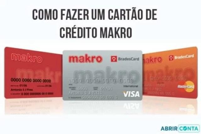 Como fazer um cartão de crédito Makro