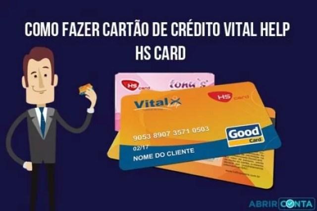 Como fazer cartão de crédito Vital Help HS Card – Hinode