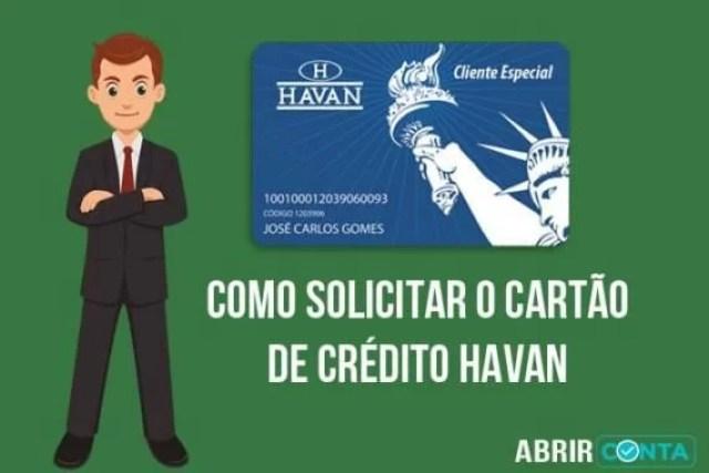 Como fazer cartão Havan