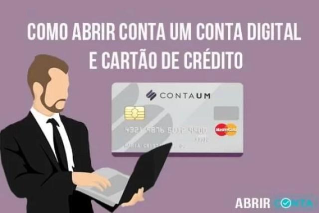 Como abrir Conta Um – conta digital e cartão de crédito