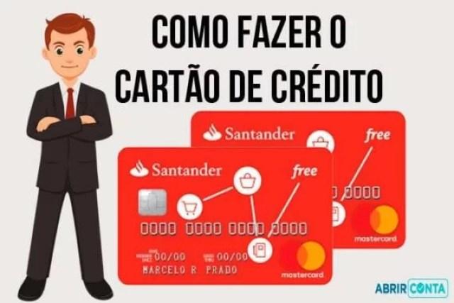 Como fazer cartão de crédito Santander Free