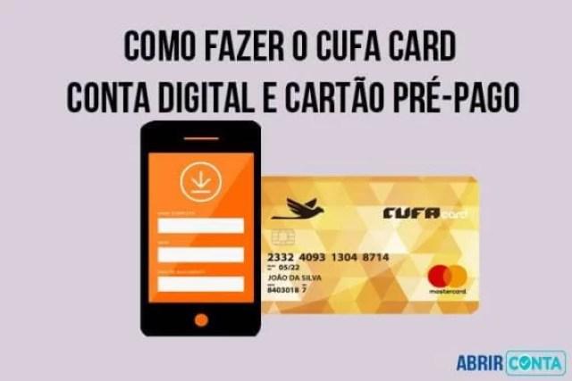 Como fazer o Cufa Card – Conta digital e Cartão pré-pago