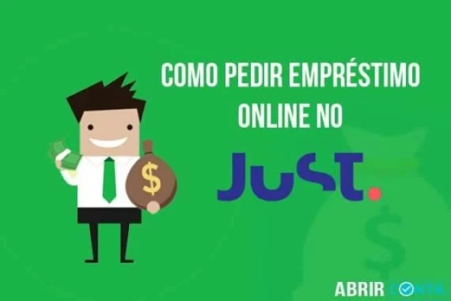 Como pedir empréstimo online no Just