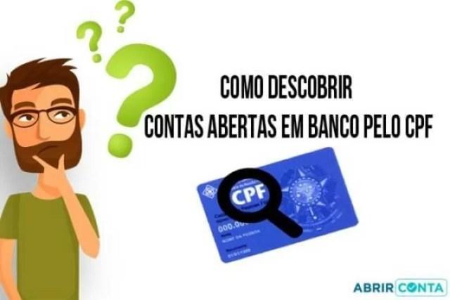 Como descobrir contas abertas em banco pelo CPF