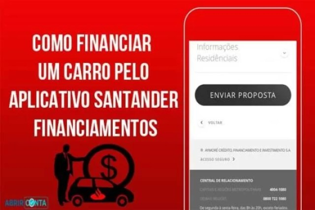 Como financiar carro pelo aplicativo – Santander financiamentos
