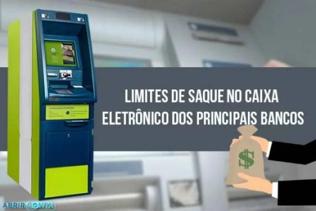 Limites de saque no caixa eletrônico dos principais bancos