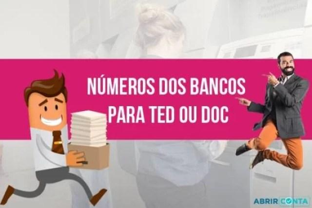 Números dos Bancos para TED ou DOC