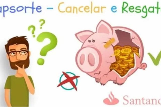 Como cancelar e resgatar capitalização Capsorte do Santander