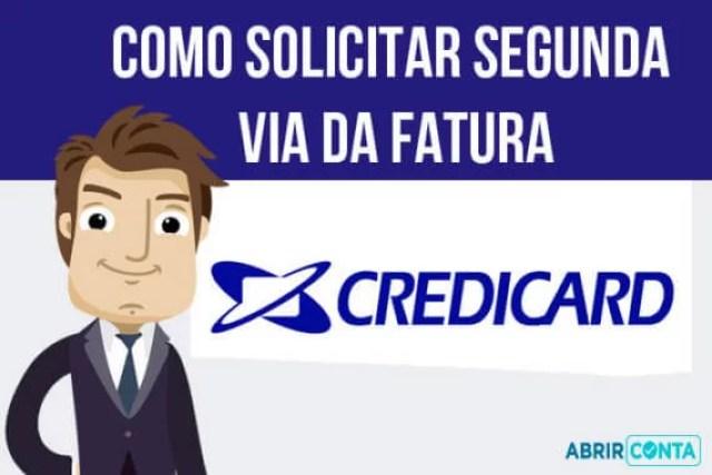 Como solicitar segunda via da fatura do Credicard
