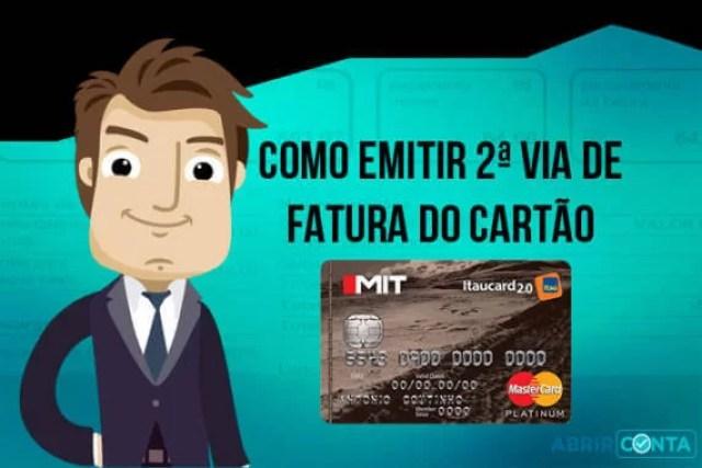 Como emitir 2ª via de fatura do cartão de crédito Mit