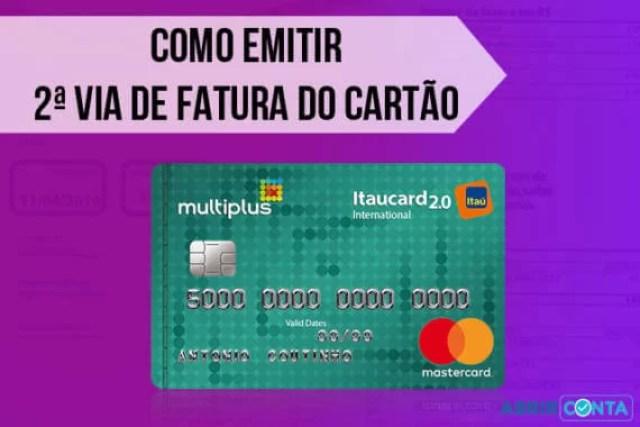 Como emitir 2ª segunda via de fatura do cartão Multiplus