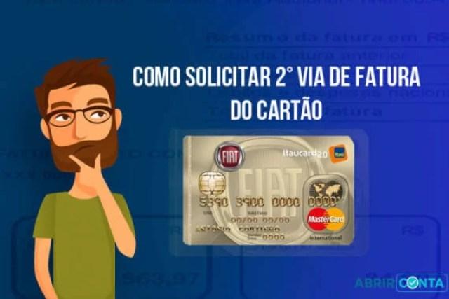 Como tirar2ª via de fatura do Cartão Fiat