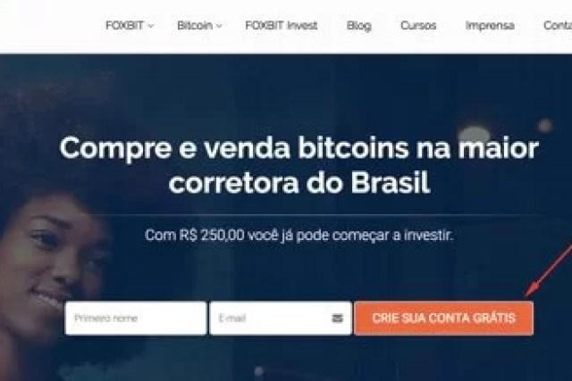 Como abrir conta na Foxbit
