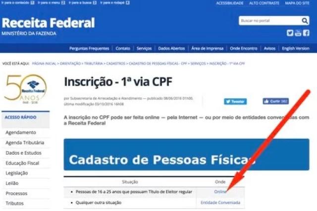 Como emitir CPF pela internet – Passo a Passo