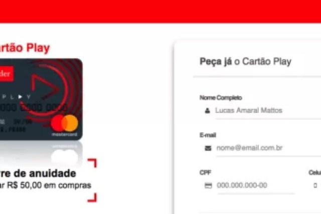 Como solicitar o cartão Santander Play
