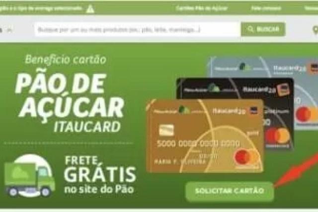 Como solicitar o cartão de crédito do Pão de Açúcar